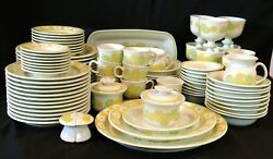 Vintage Franciscan Earthenware Picinic Pattern 85 Piece Place Setting For 8
