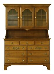 51812ec Hitchcock Stenciled Maple Early American China Hutch