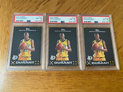 3 2007 Kevin Durant Topps 112 Black Rookie Card Psa 8 Lot Nets Supersonics🔥
