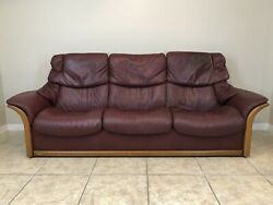 Ekornes Stressless Sofa Couch 'el Dorado' High Back Leather Couch Recliner