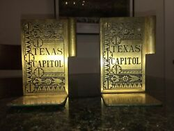 Vintage Texas Capitol Book End Hinges Rare
