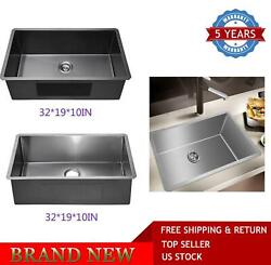 Modern Stainless Steel Single Bowl 16g Undermount Kitchen Sink With Drain And Rack