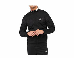 Sergio Tacchini Young Line Tracktop Anthracite Black/wht Menand039s Jacket 38954-903
