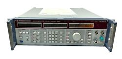 Rohde And Schwarz Signal Generator Smg 801.0001.52 W/options Calibrated