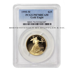 1995-w 25 Eagle Pcgs Pr70dcam 1/2 Ounce American Gold Deep Cameo Proof Coin