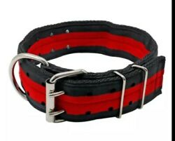 2quot; 4 Ply Nylon Heavy Duty Dog Collar for Pit Bull amp; Large Breeds puppy size