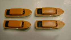 Lionel 6416 Orange Athearn Boats-pkg. Of 4- For The Boat Loader-reproduction