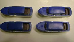Lionel 6416 Blue Over White Athearn Boat-reproduction- Set Of 4- Boat Loader
