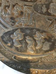 Antique Large Japanese Collections Heavy Plate With Stand Rare Vintage Old
