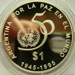 Argentina 1995 Unites Nations 1 Peso Silver Coinproof