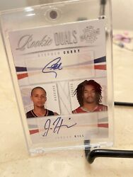 2009-10 Panini Season Update Stephen Curry Jordan Hill Rookie Duals Auto📈 25/49