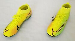Youth Size 5.5y Yellow Nike Mercurial Superfly 7 Academy Mds Fg/mg Soccer Cleats
