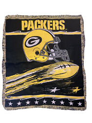"""Nfl Green Bay Packers 58"""" X 48"""" The Northwest Company Tapestry Throw Blanket"""