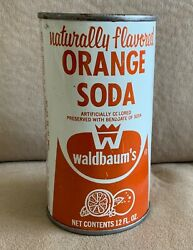 Waldbaum's 1960s-1970s Flat Top Vintage Soda Can With Judaica On Top - Rare