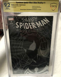 Symbiote Spider-man 1 Sketch Variant Signed Sketch By Tone Rodriguez