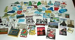Lot Of 66 Souvenir Travel State Refrigerator Rubber Glass Magnets