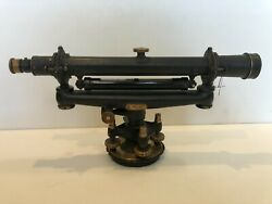 C.l. Berger And Sons Surveyor's Transit Level Line Of Sight Scope W/tripod And Box