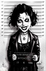 Nancy By Marcus Jones Downs The Craft Mugshot Witchcraft Canvas Wall Art Print