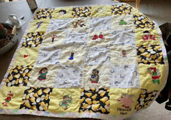Vintage Child's Quilt With Patches Popeye/scooby/betty Boop Christmas