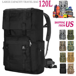 120l Large Outdoor Military Tactical Backpack Rucksack Camping Travel Bag Molle