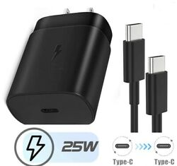 Fast Charger 25w Pd Type C Wall /travel Plug For Samsung Galaxy S21 5g S21/ultra