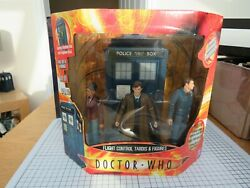 Doctor Who Figure 10th Doctor Flight Control Tardis And Figures Light And Sound