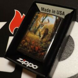 Zippoandnbsphunting Deer Big Buck R.j. Mcdonald While You Were Out Sealed Org Box
