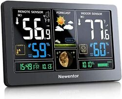 Newentor Weather Station Wireless Indoor Outdoor Thermometer Color Display Digit