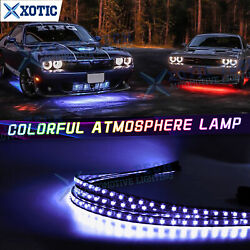 Rgb Led Underglow Body Neon Light Phone Control Set For Dodge Charger Challenger