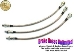 Stainless Brake Hose Set Hudson Pacemakerandnbspand Pacemaker Deluxe 1950 1951