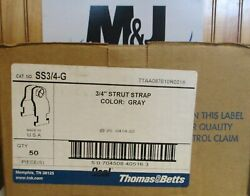 Ss 3/4 - G Strut Strap Thomas And Betts Color Gray Ocal Box Of 50