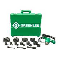 Greenlee 7610sb 11-ton Hydraulic Knockout Kit With Foot Pump And Slug-buster®