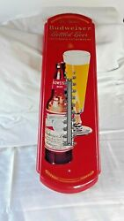 Metal Budweiser Bottle Beer Wall Thermometer