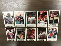 20 X 1985 And 1989 Kansas City Chiefs Complete Police Sets.......40 Sets Total