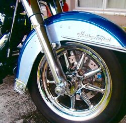 Harley-davidson Heritage And Deluxe Softail Best Buy 9 Spoke Chrome Wheels All Fls