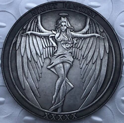 Hobo Nickel Two Faces Angel and Devil Sexy Girl US Art Casted Coin $3.99