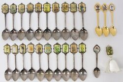 Vintage Lot Of 24 M.i. Hummel Goebel Silver And Gold Plated Spoons And Bell Germany
