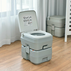 5.3 Gallon 20l Outdoor Portable Toilet With Level Indicator For Rv Travel Campin