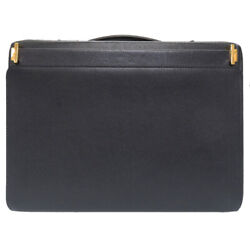 Authentic Hermes Vintage Hand Bag Navy Courchevel 0117