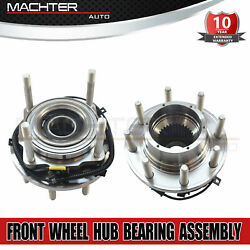 2 Front Wheel Bearing Hub For Ford F-250 F-350 2011-2016 Super Duty 4wd Srw