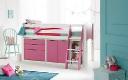 Scallywag Convertible Mid Height Mid Sleeper Cabin Bed With 3 Drawer Chest