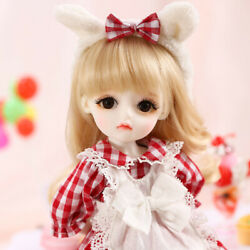 1/6 Bjd Doll Sd Girl Angelic Melissa B -free Face Make Up+eyes+clothes+wig+shoes
