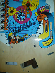 Gottlieb Rock Star Is Very Rare Nos Playfield No Reproduction
