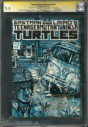 Teenage Mutant Ninja Turtles 3 Cgc 9.4 Ow-w Eastman Signed Double Cover