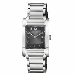 Baume And Mercier Womenand039s M0a10021 Hampton 40mm Black Dial Steel Watch