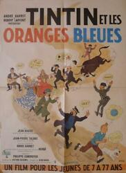 Tintin And The Blue Oranges - Herge - Rare Original French Movie Poster