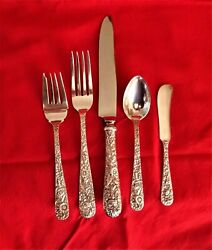 S. Kirk And Son Repousse Sterling - For 6 + Serving/extras, C.1955 No Mono's
