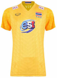 100 Authentic 2021 Thailand National Volleyball Team Jersey Shirt Player Yellow