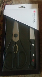 Wusthof Gourmet 2pc Come-apart Kitchen Shears / Scissors And 3 Paring Knife Set
