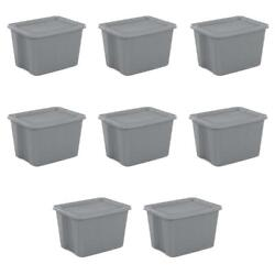 8/6 Large Plastic Storage Container 18 Gallon Stackable Organizer Tote Box W Lid